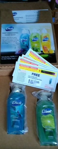 five free coupns and two full size hand soaps. Purex Insiders