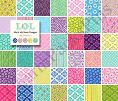 LOL by Moda Fabric Charm Pack  Five Inch Quilt by charmpacks