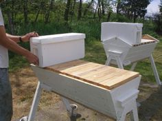 Charmant Thy Hand Hath Provided: Transferring Langstroth Nucs To Top Bar Hives    Plastic Frames
