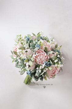 Clay wedding bouquet Keepsake succulent bouquet with