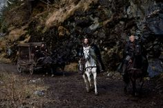 Nicolas Cage, Ron Perlman, Stephen Campbell Moore, and Robert Sheehan in Season of the Witch Stephen Campbell Moore, Top Audio, Ron Perlman, Season Of The Witch, Nicolas Cage, Seasons, Robert Sheehan, Animals, Warriors