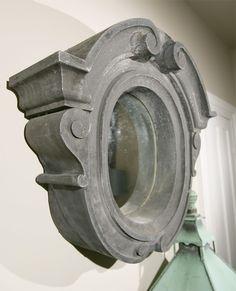18th C Zinc Oeil de Boeuf Mirror