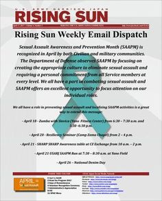 Rising Sun Weekly Email Dispatch for the week of April 17, 2017 (Volume 4, Number 2)  Weekly Informational Newsletter