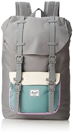 Herschel supply co little america mid volume grey bone seafoam c2fd8255fa624