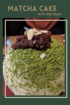 Matcha and red bean combination is the best! Best Matcha, Matcha Cake, Green Tea Powder, Red Beans, Dessert Recipes, Desserts, Healthy Drinks, Yummy Cakes, The Best