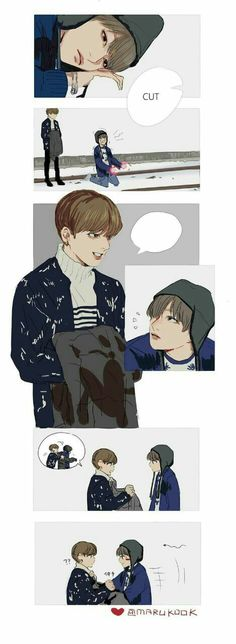 I don't know but this is funny......... Jk expression aigoo... So cute #taekook.... Love 😘😘😍😍
