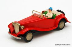 Vintage Tekno Denmark Die Cast MG TD RARE Red with Green Interior  Driver