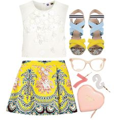 Untitled #112 by sourpants on Polyvore featuring MSGM, Salvatore Ferragamo and Miu Miu