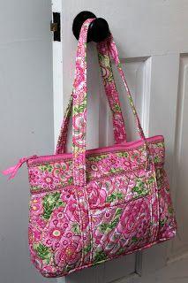 The Daily Prep: Ten Favorite Vera Bradley Styles-  I wonder if I could add a zipper like this to my Vera Bradley bag