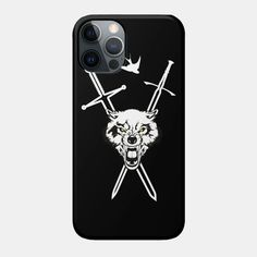 Wolf and Swallow - Animals and Swords - Gaming Art - Phone Case | TeePublic Art Phone Cases, Unique Iphone Cases, Swallow, Swords, Wolf, Smartphone, Gaming, Personalized Items, Animals