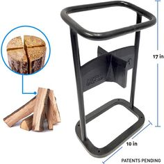 Welding Projects, Diy Wood Projects, Manual Log Splitter, Kindling Splitter, Range Buche, Wood Cutter, Wood Chipper, Firewood Rack, Wood Logs