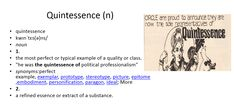 quintessence meaning #gre #cat #vocabulary