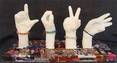 Luis B's Art: Plastic Plaster Project Ideas Plaster Sculpture, Hand Sculpture, Sculpture Projects, Art Projects, Sculpture Ideas, Project Ideas, Plaster Hands, Hand Kunst, Show Of Hands