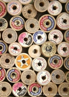 a quilters dream - love the wooden spools...
