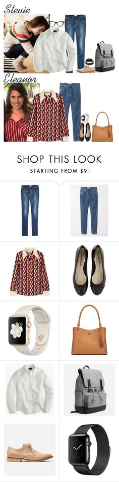 """""""Tuesday // After School Activities & Apple Picking w/Kate // 9.26.17"""" by graywolf145 ❤ liked on Polyvore featuring Madewell, Gucci, Tory Burch, J.Crew, Ray-Ban and StevieandEleanor"""