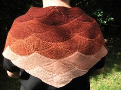 Ravelry: Project Gallery for Aranami Shawl pattern by Olga Buraya-Kefelian Bronotta yarns