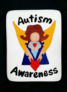 AUTISM AWARENESS ANGEL PUZZLE  Etsy listing at https://www.etsy.com/listing/98445555/autism-awareness-angel-wooden-puzzle