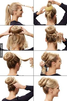 Fast hairstyles with long hair - New hair styles- Schnelle frisuren mit langen haaren – Neu Haar Stile Fast hairstyles with long hair – New hair styles - Donut Bun Hairstyles, Cute Curly Hairstyles, Fast Hairstyles, Hair Bun Donut, Beautiful Hairstyles, Doughnut Bun, Braided Bun Hairstyles, Simple Hairstyles, Medium Hair Styles