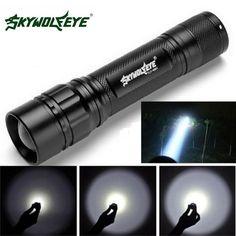 SKYWOLFEYE 10000 Lumens Zoom X-XML T6 LED Flashlight 2X18650 Battery torch AY