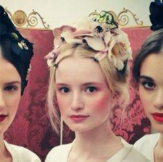 rosy cheeks + floral headpieces at dolce & gabbana alta moda spring 2014