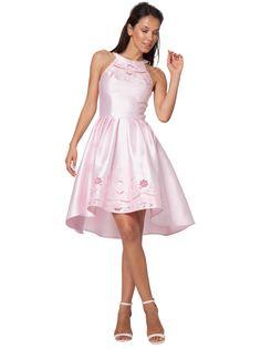 #dress  36% OFF. http://bucksme.com/share/3736  Floral Laser Cut Detailing. Dip Hem Shape. Fully Lined. Exposed Back Zip. Hi-Neck Style.