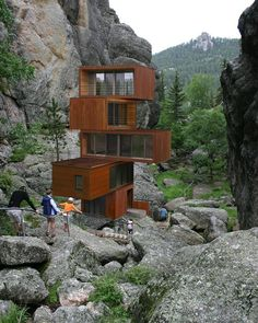 ▷ 64 + ideas on modern and cheap container house - Container häuser - Architecture Building A Container Home, Container Buildings, Container Architecture, Architecture Design, Amazing Architecture, Classical Architecture, Scandinavia Design, Design Exterior, Unusual Homes