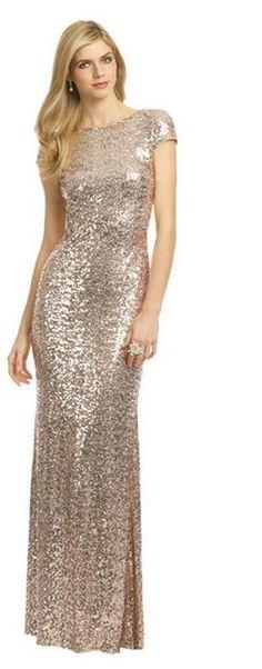 sequinned bridesmaid dresses (renttherunway.com)
