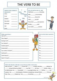 Awesome Verb Be Worksheets that you must know, Youre in good company if you?re looking for Verb Be Worksheets Teaching English Grammar, English Grammar Worksheets, Verb Worksheets, English Verbs, Grammar Lessons, Printable Worksheets, English Vocabulary, Teaching Spanish, Grammar Tenses