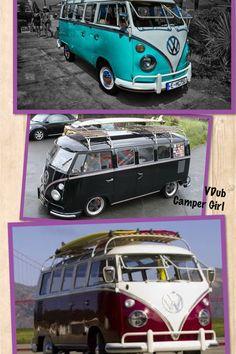 VW splitscreen surf buses by VDub Camper Girl.