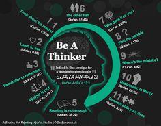 Be A Thinker - Quran Reflections   Zaufishan