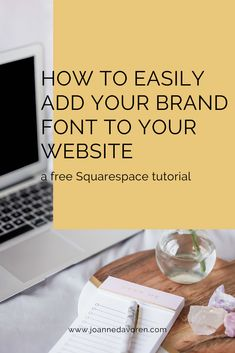 One way to share your branding on your website is with your font. This blog post will show you how to easily add your own custom font to your Squarespace site. Font Face, Brand Fonts, Custom Fonts, Online Business, Web Design, Coding, Branding, Website, Blog