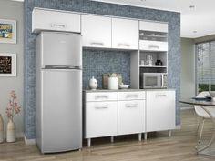 Cozinha Compacta Madine Móveis Lorena - 5 Portas com as melhores condições você encontra no Magazine Gileo. Confira!