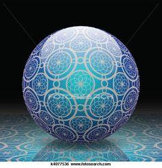 Blue Decorative Ball