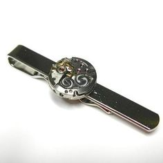 Tie Bar Clip Vintage Watch Movement Steampunk Style
