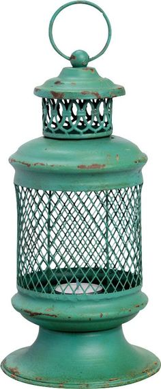 "Features:  -Charming.  -Iron basket.  Style: -Rustic.  Holder Material: -Metal.  Candle Included: -Yes. Dimensions:  Overall Height - Top to Bottom: -10"".  Overall Width - Side to Side: -5"".  Overall"