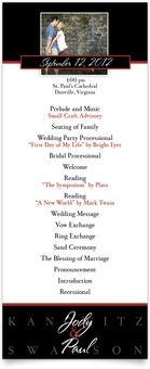 Tea-length Wedding Programs - Perfect Promise