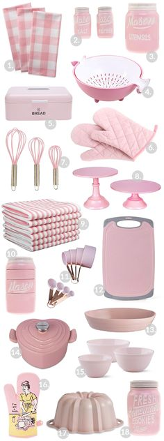 Pink kitchen gadgets and appliances! The perfect pink pops of color for a kitchen! Pink kitchen gadgets and appliances! The perfect pink pops of color for a kitchen! Pink Kitchen Decor, Cute Kitchen, Kitchen Items, Kitchen Colors, New Kitchen, Vintage Kitchen, Kitchen Design, Best Kitchen Gadgets, Kitchen Decorations