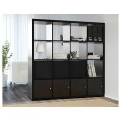 Ikea Room Divider, Room Divider Shelves, Shelf Dividers, Studio Apartment Layout, Studio Apartment Decorating, Studio Apartment Divider, Apartment Furniture Layout, Ikea Kallax Shelf Unit, Ikea Canada