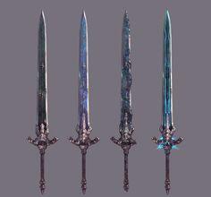 Fantasy Dagger, Fantasy Sword, Fantasy Art, Anime Weapons, Weapons Guns, Armor Concept, Weapon Concept Art, Dark Souls, Arte Percy Jackson