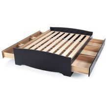 ''Sonoma'' Bed Platform with Storage, Standard Height - Sears Bed Frame With Drawers, Under Bed Drawers, Full Platform Bed, Platform Bed With Storage, King Bed Frame, Bed Storage, Extra Storage, Headboards For Beds, Online Furniture