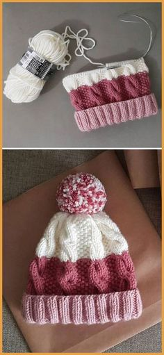 Cozy Cable Knit Hat - Free Pattern - Knitting is as easy as 3 The knitting . Cozy Cable Knit Hat – Free Pattern – Knitting is as easy as 3 Knitting boils down to thre Loom Knitting, Knitting Patterns Free, Free Knitting, Free Crochet, Free Pattern, Knit Crochet, Crochet Patterns, Crochet Hats, Crochet Stitch