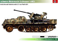 schwere Wehrmacht Schlepper (sWS) w/37mm Flak 43/1