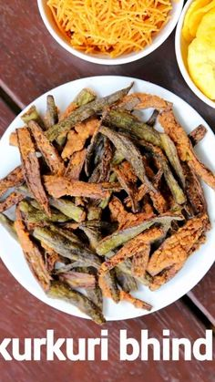 kurkuri bhindi recipe, crispy bhindi, bhindi kurkuri, karari bhindi with step by step photo/video. crispy ladies finger fry recipe with tender okra's. Pakora Recipes, Chaat Recipe, Veg Recipes, Spicy Recipes, Curry Recipes, Side Dish Recipes, Vegetarian Recipes, Cooking Recipes, Healthy Recipes