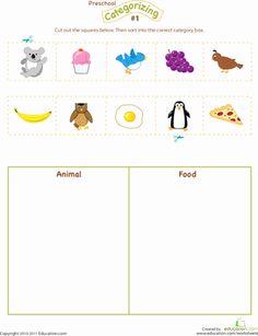Preschool Graphs, Free Preschool, Preschool Science, Preschool Worksheets, Early Learning Activities, Language Activities, Kids Learning, Cutting Activities, Preschool Sight Words