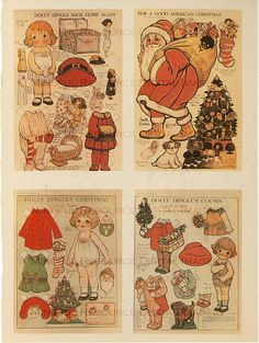 Vintage Christmas Dolly Dingle Paper Doll by mindfulresource, #christmascraft #dollydingle #vintagechristmas