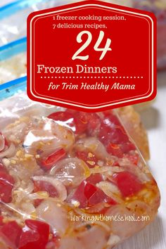 Fill your freezer with yummy, easy, Trim Healthy Mama meals! THM Freezer Meals!