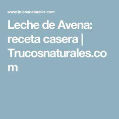 Leche de Avena: receta casera | Trucosnaturales.com