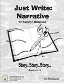 """Narrative writing activities, lessons, and prompts for and grade classrooms. Contains nine weeks of daily narrative writing instruction aligned with the Common Core Standards. - """"Just Write: Narrative (Grades 4 - Workbooks - By: Kathryn Robinson Writing Curriculum, Writing Worksheets, Writing Lessons, Writing Ideas, Writing Prompts, Homeschooling, First Day Activities, Daily Activities, Writing Activities"""
