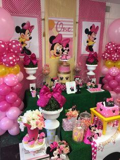 You have to see this Minnie Mouse birthday party! See more party planning ideas at CatchMyParty.com!