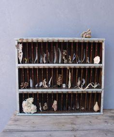 Vintage Hotel Key Rack Cabinet 1940's Cubby Mail Sorter